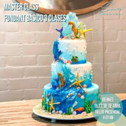 VIERNES 16, 23 Y 30 DE ABRIL DEL 2021: Master Class «Fondant Marino» 3 Clases